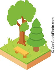 Forest icon, isometric style