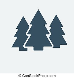 Forest icon. Vector illustration