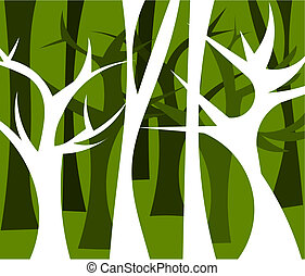 Forest illustration - Abstract forest full of trees