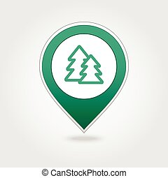Forest map pin icon