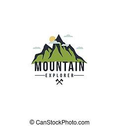 Forest, Mountain Adventure Badge Vector Logo, Sign, Icon