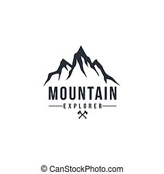 Forest, Mountain Adventure, Deer Hunter Black And White Badge Vector Logo, Sign, Icon