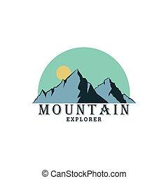 Forest, Mountain Adventure Logo, Explorer, Badge Vector Design, Sign, Icon