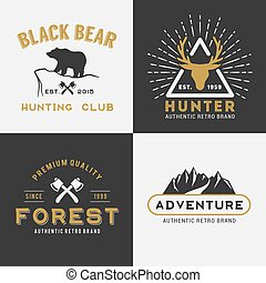 Forest Mountain Adventure Logo Insignia