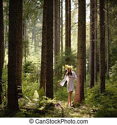 Forest Nymph Mavka - Forest Nymph called Mavka in Ukrainian...