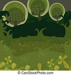 Forest of magic trees. seamless Vector