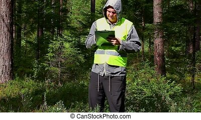 Forest Officer with folder