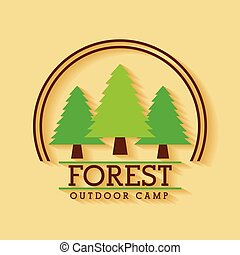 forest outdoor camp adventure land tree badge