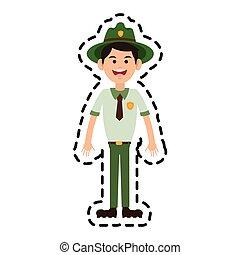 forest ranger icon