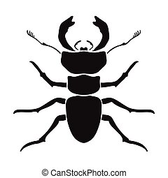 Forest red ant icon in black style isolated on white background. Insects symbol stock vector illustration.