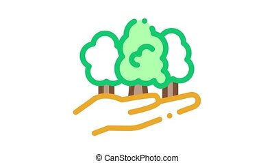 forest safe Icon Animation. color forest safe animated icon on white background