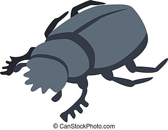 Forest scarab icon, isometric style