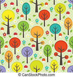 Forest seamless background - Vector forest seamless pattern...