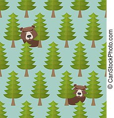 forest seamless pattern.