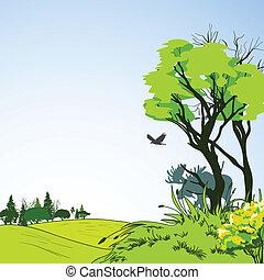 Forest sketch poster
