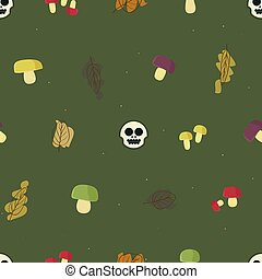 Forest theme background - Poisonous mushrooms - forest theme...