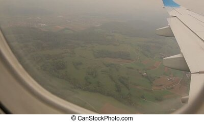 Forest Through The Airplane Window