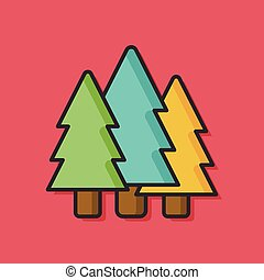 forest tree vector icon