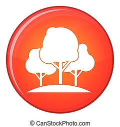 Forest trees icon, flat style