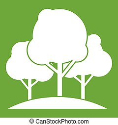 Forest trees icon green