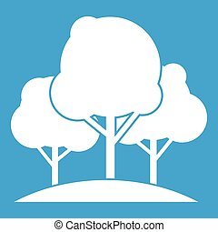 Forest trees icon white