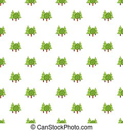 Forest trees pattern, cartoon style