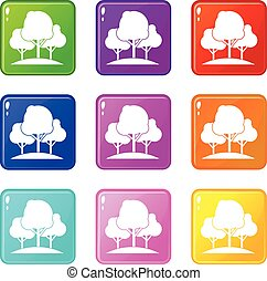 Forest trees set 9