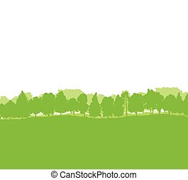 Forest trees silhouettes landscape