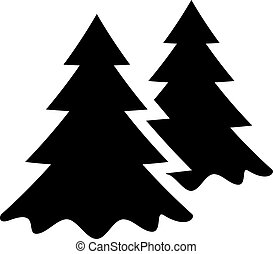 Forest vector icon