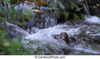 Forest waterfall in Baden-Baden. Eu