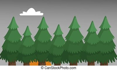 Forest with outgoing sun HD animation - Forest with outgoing...