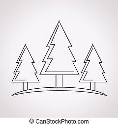 foresta albero, icona