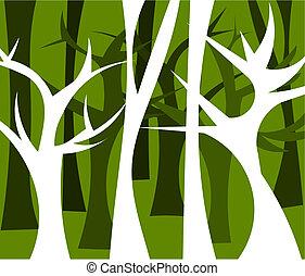 foresta, illustrazione