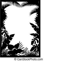 foresta, silhouette