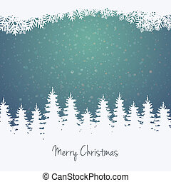 foresta, stelle, inverno, fondo, neve