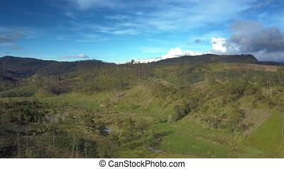 Forested and Bare Hills in Highland Upper View - pictorial...