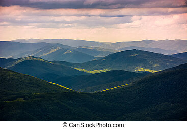 forested rolling hills of Carpathian mountains. gorgeous...