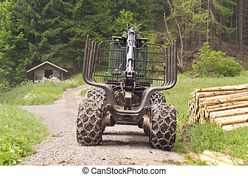 Forestry Machine in a german Forest