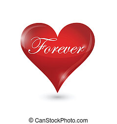 forever heart illustration design
