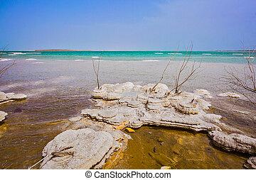 Picturesque islands of medicinal salt
