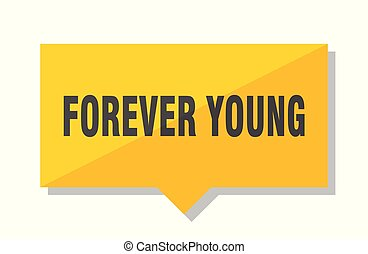 forever young price tag - forever young yellow square price...