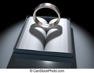 Forever Yours - Illustration of a platinum ring with a...