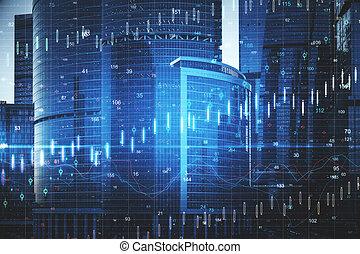 Forex charts hologram