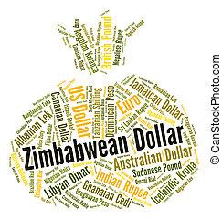 forex, dollaro, mostra, valuta, zimbabwean, commercio