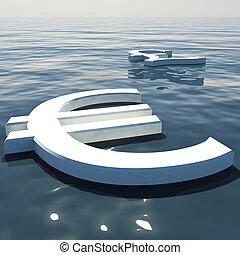 forex, esposizione, soldi, lontano, libbra, andare, scambi, galleggiante, o, euro