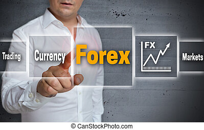 Forex touchscreen concept background template
