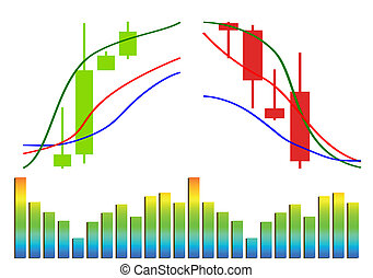 forex, vektor, handlende, handelsvare