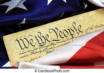 forfatning, i, de forenede stater