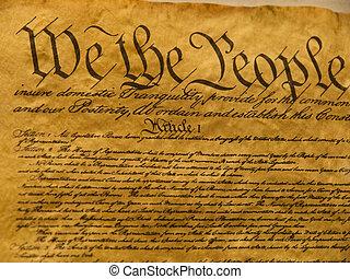 forfatning, united states, pergament