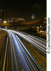 forgalom, alatt, modern, város